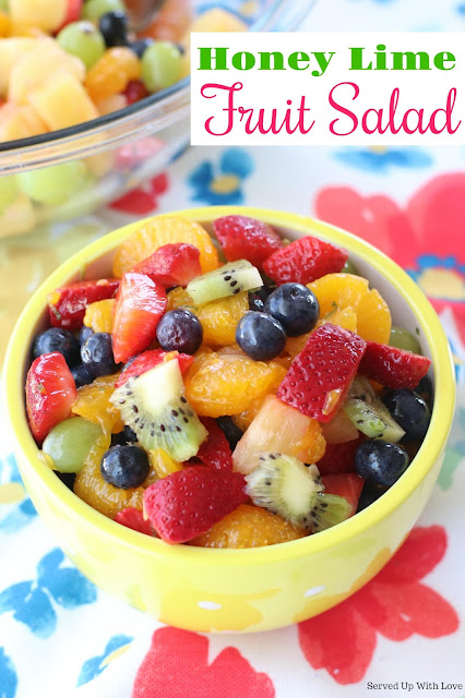 Light and refreshing Honey Lime Fruit Salad recipe is light sunshine and joy all mixed up into a bowl. This salad is a crowd pleaser!