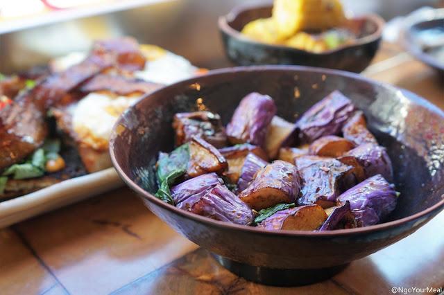 Hakka Eggplant at Myers and Chang in Boston