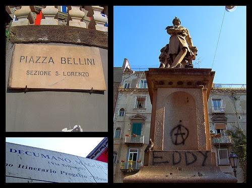 Piazza Bellini en Nápoles