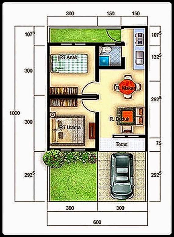 Desain Rumah Type 36/60