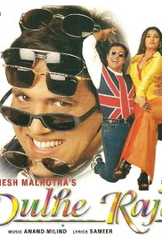 Poster of Dulhe Raja 1998 720p Hindi HDRip Full Movie Download