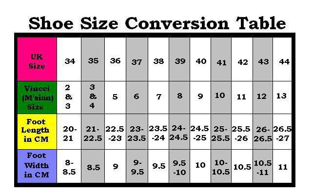 The other categories will automatically change to match your shoe size. Shoe Size Conversion Charts. Choose the chart best suited for you, there are alternatives for: Men's, Women's, Boy's and Girl's shoe sizes Using the shoe size charts. Let's say that you are a Woman from the United States with a shoe size of 7 and would like to know which size .