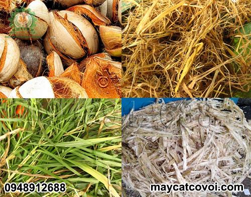 Máy băm vỏ dừa, rơm rạ, ván bóc 3A3Kw xử lý được rất nhiều nguyên liệu khác nhau