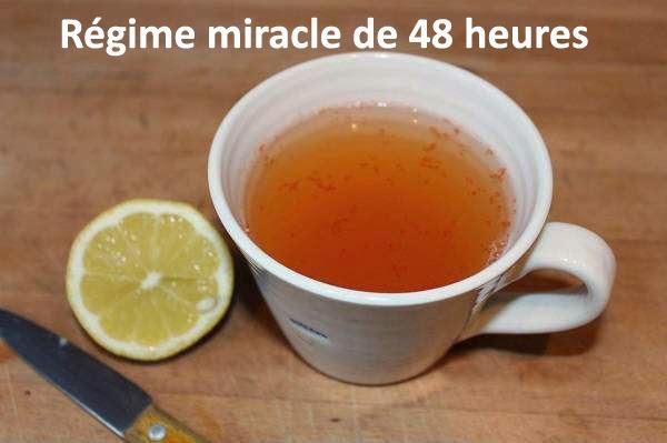 Régime miracle de 48 heures qui élimine les toxines et