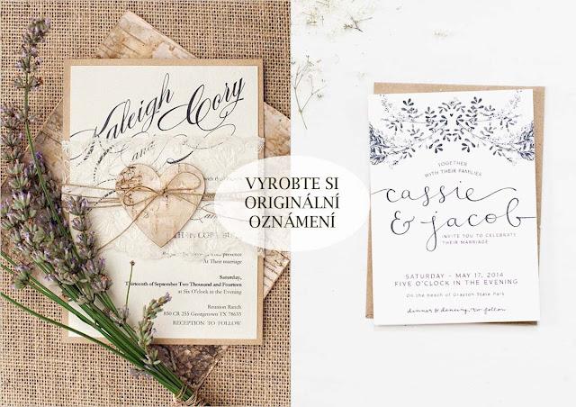 Ušetřete na svatebním oznámení vlastní výrobou