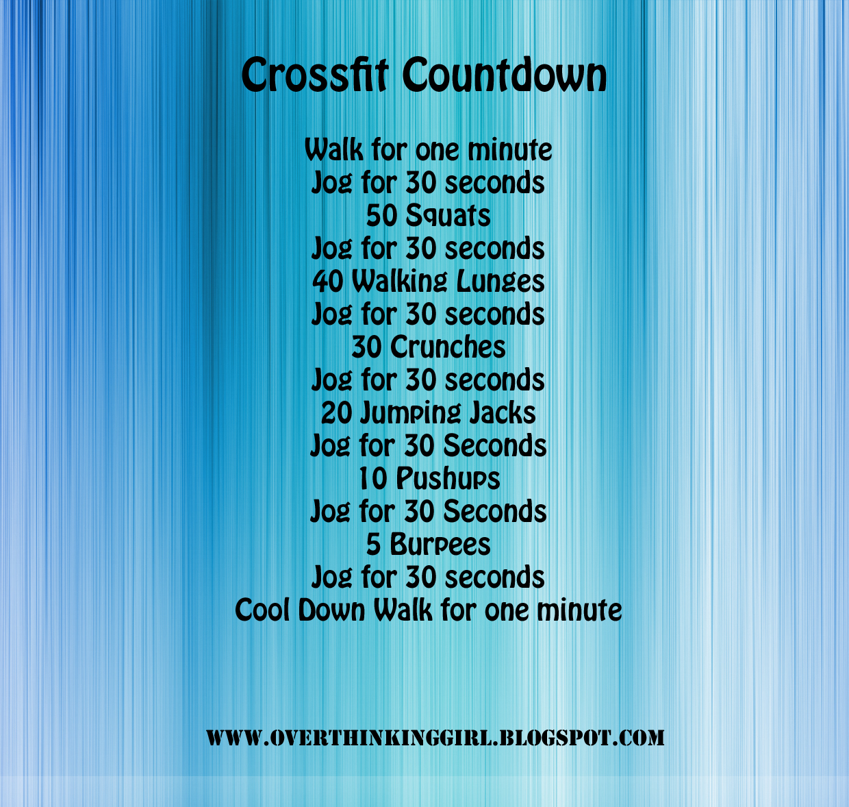 Crossfit Workout Routines: The Girl Who Thought Too Much: August 2013