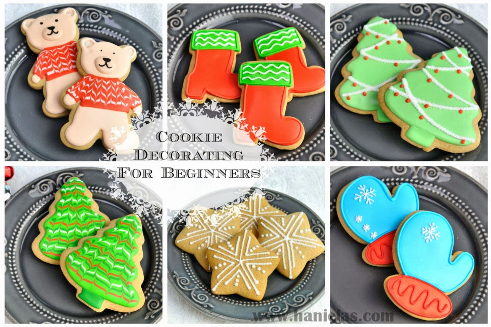 Haniela's: Simple Decorated Christmas Cookies with Royal Icing