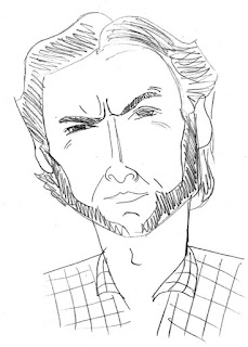 hugh jackman wolverine caricature by Ian Davy Brown