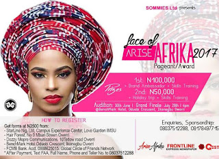 FACE OF ARISE AFRIKA PAGEANT AWARDS: Organizers set to Storm Africa with Talents 1