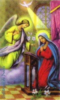 Resultado de imagem para anunciação de maria pelo anjo gabriel