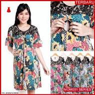 MOM051D29 Dress Hamil Menyusui Floral Brokat Dresshamil Ibu Hamil
