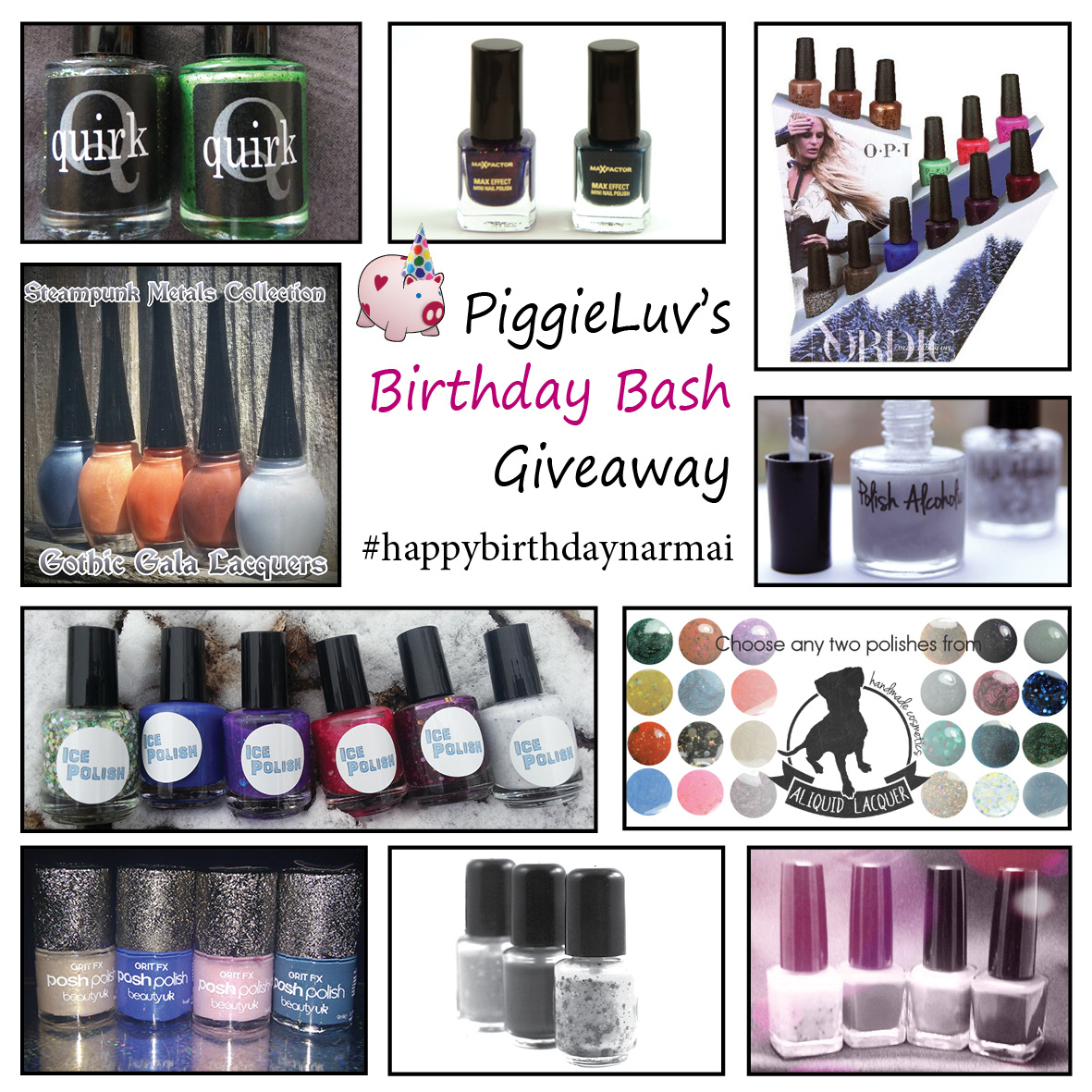 PiggieLuv's Birthday Bash Giveaway!