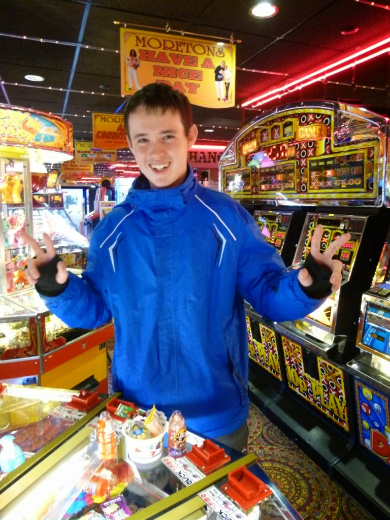 Will 'The Winner' Donnelly and his haul at the amusement arcade in Hastings