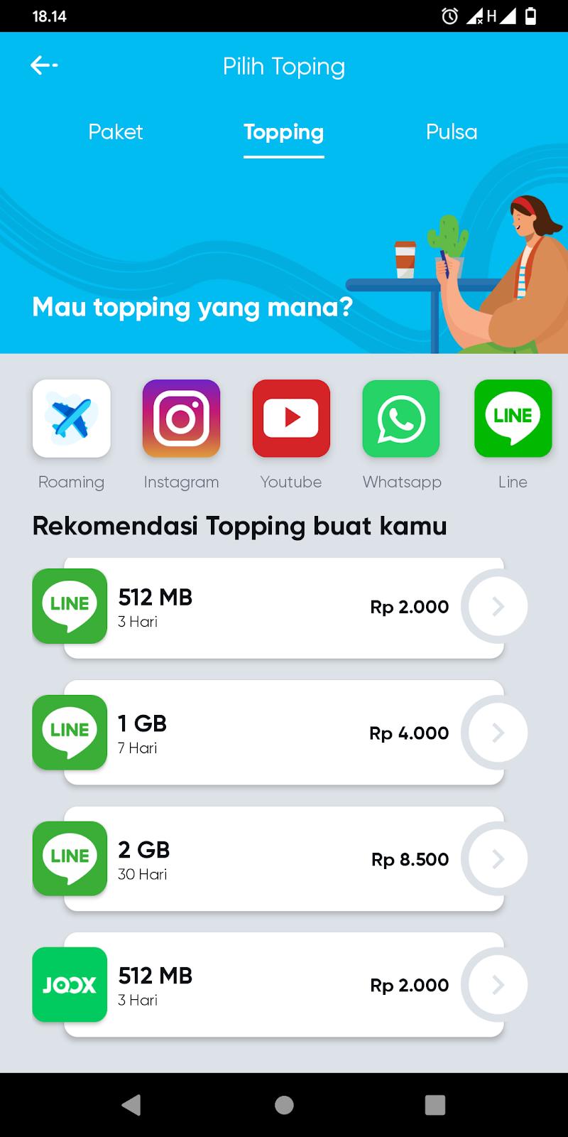 Daftar Paket Topping Aplikasi Media Sosial By U Telkomsel