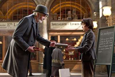 asa butterfield, christopher lee, librarian, hugo