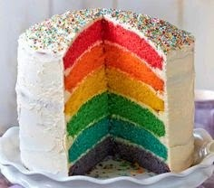 rainbow cake hidden surprise cakes