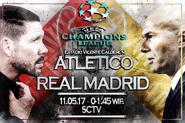 Prediksi Skor SemiFinal Liga Champion Atletico Madrid vs Real Madrid 11 May 2017