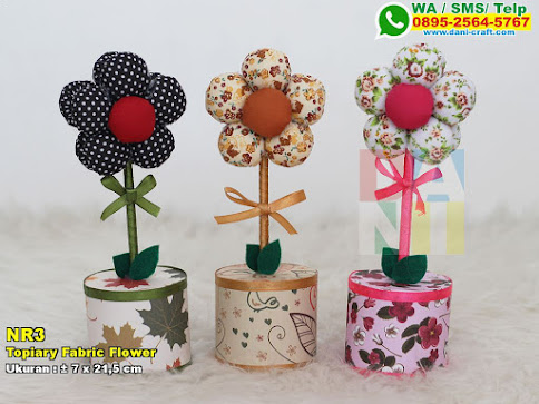 Topiary Fabric Flower