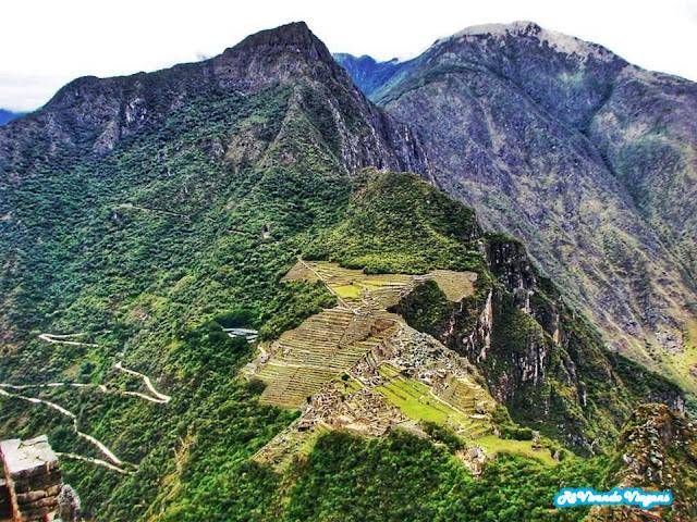Vista do Topo da Wayna Picchu, em Machu Picchu