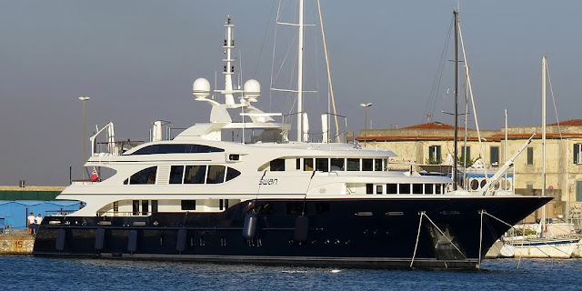 60m-yacht Swan by Benetti, IMO 9630183, port of Livorno