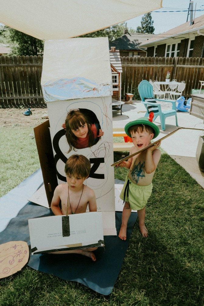 15 Amazing Cardboard Box Crafts for Kids Including the Best Cardboard Box Rocket Ship by mommy blogger Michelle of Mumsy