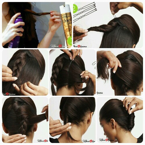 Hairstyle Girl French Roll: French Twist Hairstyle, Step By Step