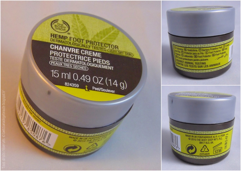 THE BODY SHOP  Coffret Soins Hydratants gamme Chanvre Crème protectrice pieds