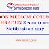 GOVERNMENT DOON MEDICAL COLLEGE DEHRADUN Recruitment Notification 2017