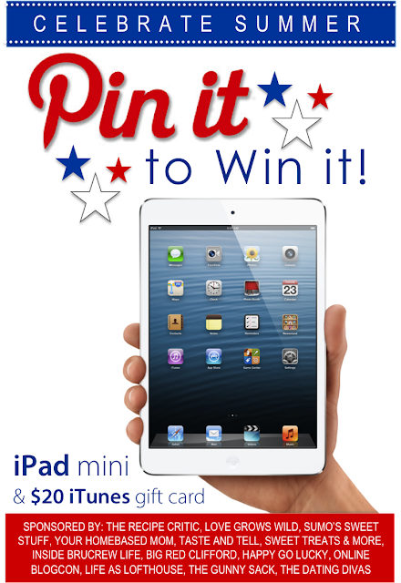 Pin it to Win it! Enter to win an iPad Mini & $20 iTunes Gift Card! #giveaway