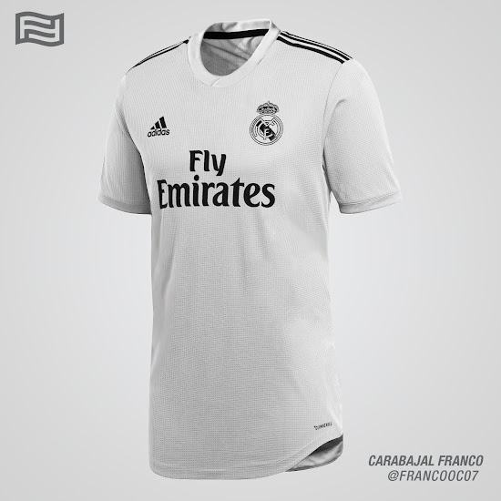brand new f6574 1a225 Real Madrid 18-19 Home & Away Kit Concepts by Franco ...