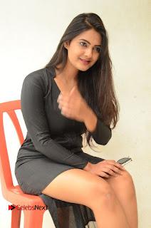 Actress Neha Deshpande Pictures in Black Short Dress at Bullet Movie Opening  0099.JPG
