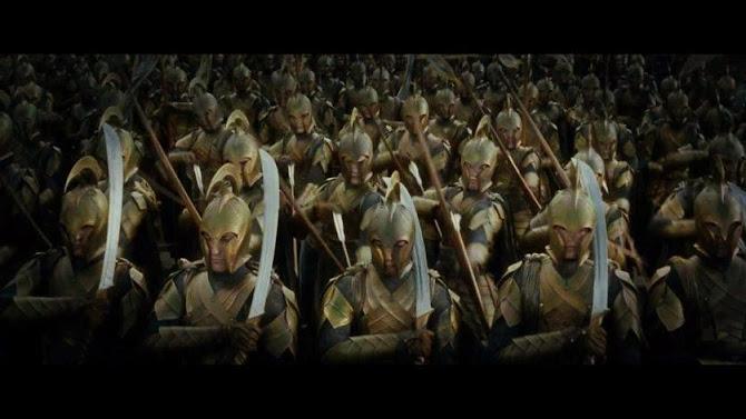 Cena do filme Senhor dos Anéis