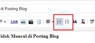 Cara Mengatasi Numbered dan Bulleted Lists yang Tidak Muncul di Posting Blog