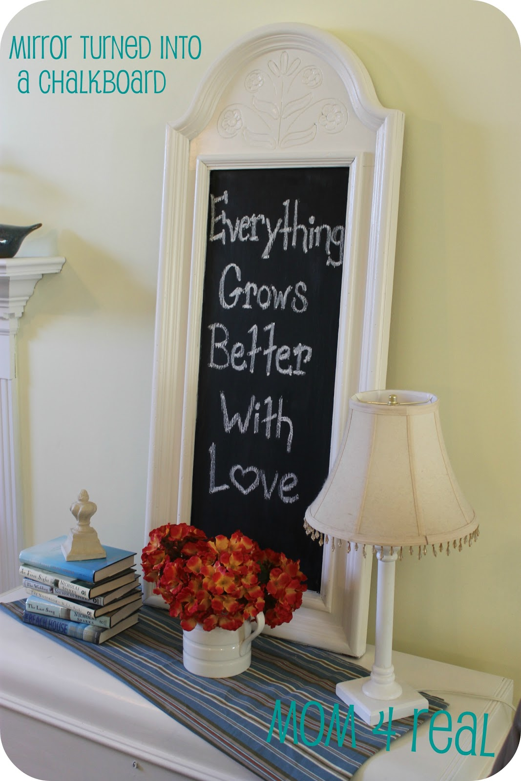 Turn A Mirror Into A Chalkboard Mom 4 Real