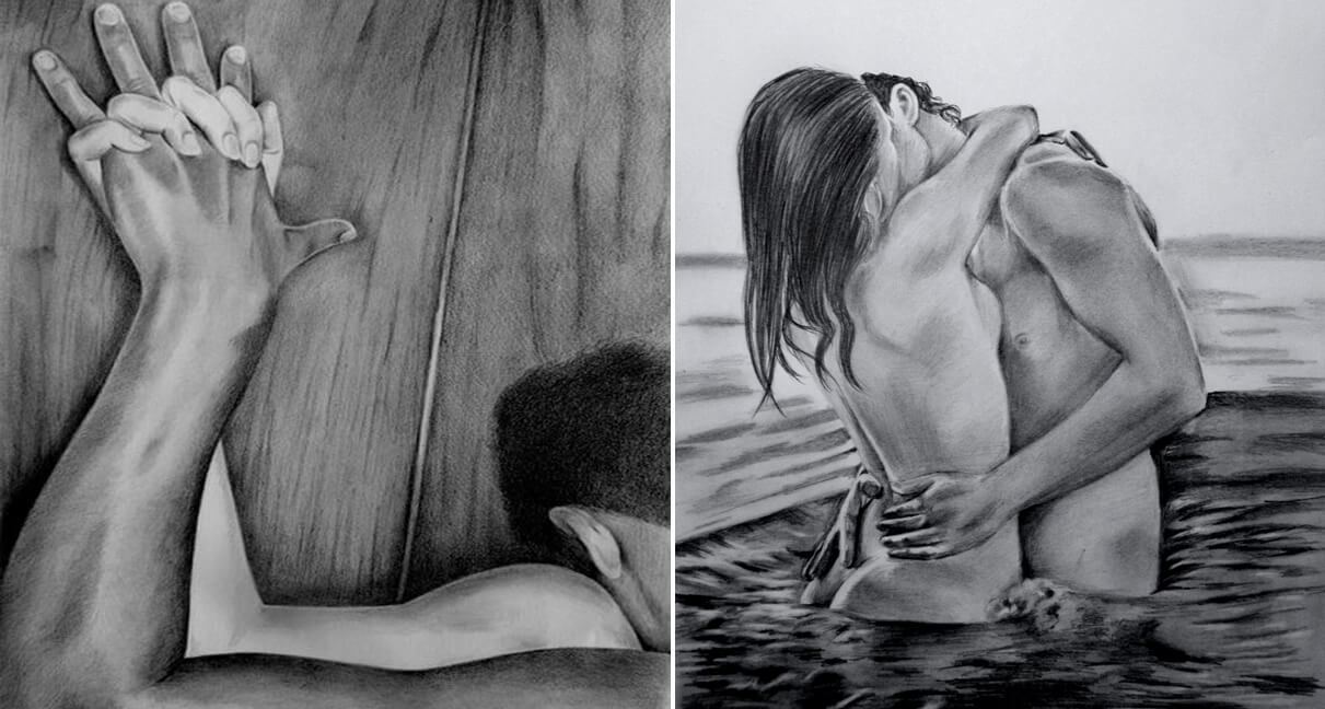 20 Mind-Blowing Pencil Drawings By Greek Artist That Illustrate The Beauty Of Love