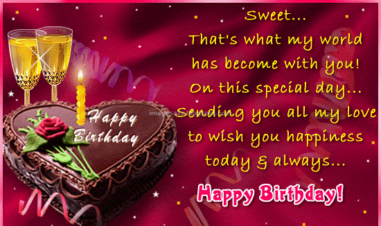 Wish your GF BF with Romantic Birthday Messages and Quotes – Birthday Greetings Wishes Messages