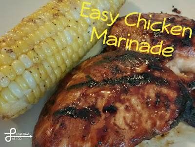 Grilling Bucket List - Easy Chicken Marinade & Roasted Sweet Corn #Celebrate365