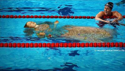 fotomontaggi di quadri famosi-Ofelia di Millais-Rio 2016