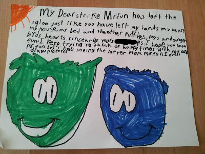 Little miss's Love letter to her puffle