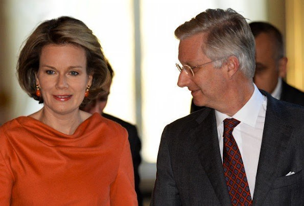 King Philippe and Queen Mathilde of Belgium participated in a meeting on social integration, prevention of radicalization and the follow up radicalized youths at the Royal Palace