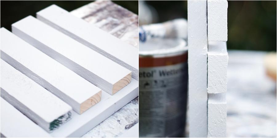 Blog + Fotografie by it's me! - fim.works - DIY Holzfußmatte, Collage Holzgestell, sikkens Farbdose