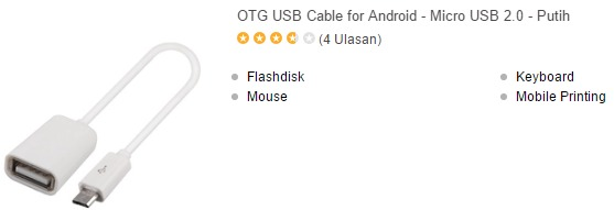 harga kabel otg android terbaru