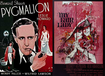 What are three ways Pygmalion differs from My Fair Lady?
