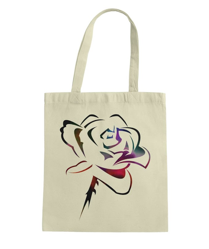 Tote Bag Canvas With Flower For Woman