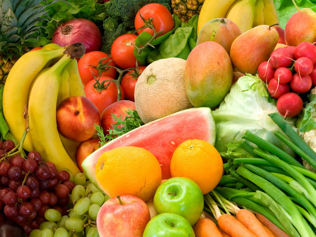 Wallpaper: Best fruits and vegetable for good health