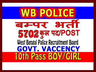 WB Police Constable Online Application Form 2018 (WBPRB)