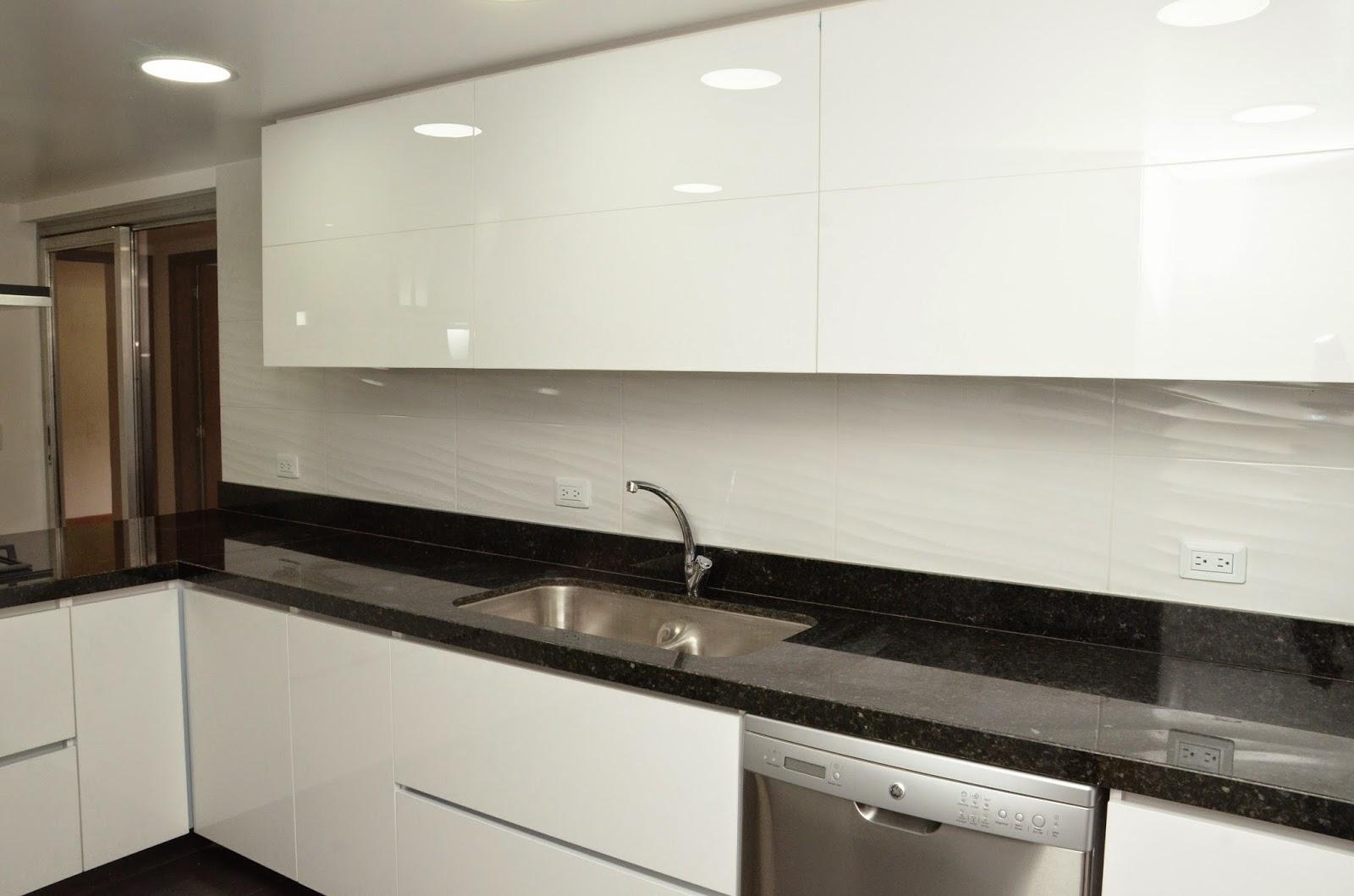 Muebles Cocina Negro | Mi Cocina Diseño De Cocina Lacado En Crema Y ...