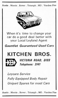 Kitchen Bros of Diss - Triumph car dealer advert
