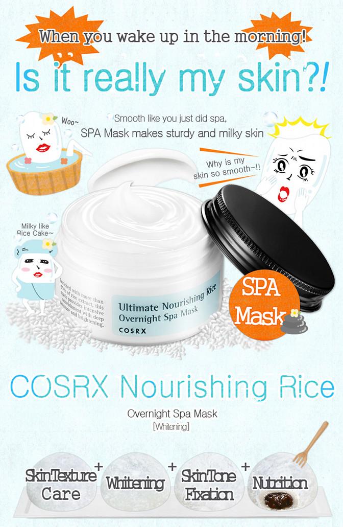 Ultimate Nourishing Rice Overnight Spa Mask by cosrx #17