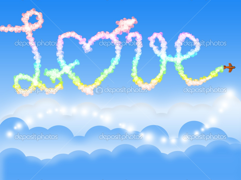 Free Cute Quote Wallpapers Blue Love In The Sky Wallpaper Love Wallpapers Free